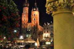 Zabytki, widoki Krakowa - Kraków nocą