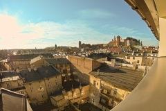 Widok na Wawel z jednego z pokoi hotelu ALEF