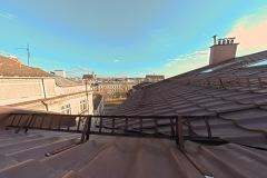 Widok na dachy krakowskie z jednego z pokoi hotelu ALEF